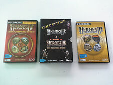 Boite/notice pour jeu Heroes of might and magic 4 IV Gold gathering storm PC FR
