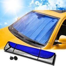 Zento Deals Auto Blue/Silver Reversible Car Vehicle Windshield Window Sunshade