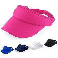 Sports Sun Visor Cotton Cap Tennis Golf Adjustable Headband
