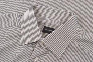 $495 NWT Current Ermenegildo Zegna US 41 16 Dress Shirt White Green 100 Fili New