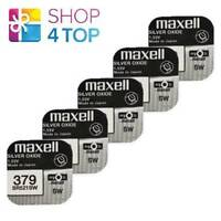 5 MAXELL 379 SR521SW BATTERIES SILVER 1.55V WATCH BATTERY EXP 2022 NEW