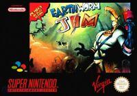 Nintendo SNES Spiel - Earthworm Jim mit OVP sehr guter Zustand