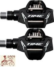 "TIME ATAC XC 4 BLACK 9/16"" 3-PIECE CRANK BICYCLE CLIPLESS PEDALS"