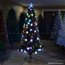 3ft  Snowflake LED Fibre Optic Christmas Tree xmas Light Decoration Pre-Lit Xmas