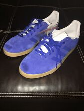 Adidas Original Gazelle Royal Blue Gum White Suede Men's Size 10 EE5525
