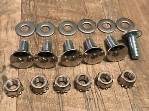 """bumper bolts keps nuts washers stainless capped bolt 3/8-16 x 1"""" 6pc fits dodge"""