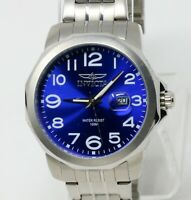 Invicta Men's Specialty Silver Stainless Steel Quartz Watch 6607 Blue Dial NEW