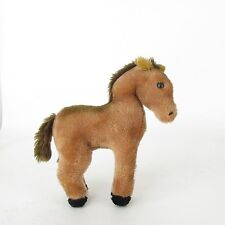 "R Dakin Stuffed Animal Horse 1975 Plush Pony 10 1/2"" Tall"