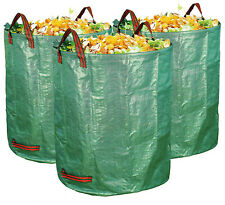 4 Pcs 72 Gallons Reusable Garden Waste Bags (H30, D26 inches) - Yard Waste Bags