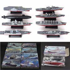 8x 4D Plastic Battleship Aircraft Carrier Submarine Warship Model Assembled Kits