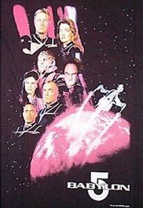 Babylon 5 Second Season Main Cast and Ship T-Shirt Size MEDIUM, NEW UNWORN