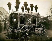 8x10 Photo President Abraham Lincoln's Hearse, Springfield, Illinois, 1865