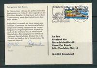 BRD Mi.-Nr. 1583X gestempelt auf Postkarte als Einzelfrankatur / EF