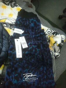 Topman leopard print hoody tracksuit jogging bottom small / medium new with tags