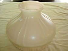 "Aladdin Shade No. 601 Satin and Clear Ribbed lower edge. 10"" fitter  9210"