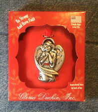 Gloria Duchin Christmas Ornament Be Strong and Have Faith Angel USA New