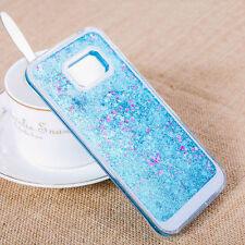 CUSTODIA cover x case Samsung Per Galaxy S8 G950 Dynamic Liquid Bling Star blu