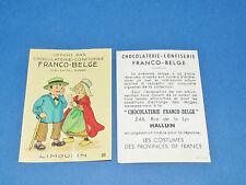 CHROMO CHOCOLATERIE FRANCO-BELGE HALLUIN NORD COSTUMES FRANCE LIMOUSIN