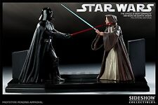 SIDESHOW The CIRCLE IS COMPLETE DARTH VADER Vs OBI-WAN KENOBI STATUE STAR WARS