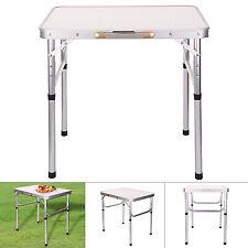Table pliante de pique-nique camping jardin BBQ barbecue portable en aluminium
