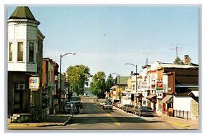 Montello, WI Wisconsin, Main Street View, Vintage Signs, Cars,Chrome Postcard