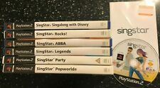 7 PS2 SING STAR SINGSTAR GAME BUNDLE ABBA ROCKS PARTY DISNEY LEGENDS POPWORLD
