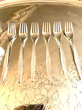 Christofle stamped OLYMPIC AIRWAYS set of 6 silver forks