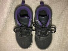 Boys Toddler Nike Woodside Boots Dark Grey/purple Size 9C