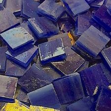 """1/2"""" DEEP BLUE: Stained Glass Mosaic Tiles (100 PIECES)"""
