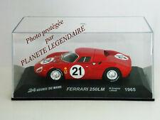 Miniature IXO Altaya 24h du Mans FERRARI 250LM 1965 Metal Diecast 1/43e