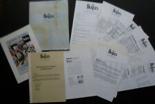 BEATLES ANTHOLOGY VIDEO PROMOTIONAL FOLDER: COMPLETE 8 VOL OPERA INFO SHEETS