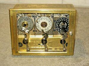 Diebold Safe Ohio 3 Clock Movement Timer Bank Vault Mechanism Howard Runs c.1895