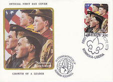 1979 Liberia Scouting / Norman Rockwell Commem.Fdc Cover - Growth Of A Leader