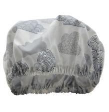 Shower Cap Waterproof Organic Cotton Australian Made Natural Grey Clouds
