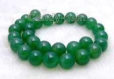 "SALE High quality Big 14mm Round Green  jade gemstone beads strands 15""-los231"
