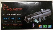 Aquatop Eliminator 18 Watt Inline Uv Aquarium Sterilizer 300 Gallons