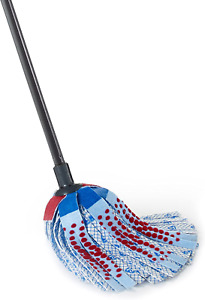 O-Cedar Mop With  Durable Telescopic Handle Microfiber House Floor Cleaning Blue