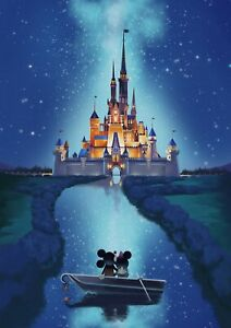 Disney - Micky And Minnie Mouse Magical Castle Wall Art Poster / Canvas Pictures