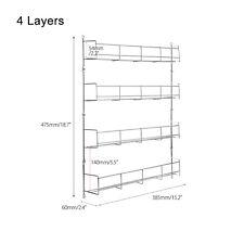 4 Tier 32 Jars Spice Herb Jar Rack Holder for Kitchen Door Cupboard Wall Storage
