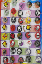 40 PUNK BIRTHDAY PARTY GOTHIC SKULL BADGES GOTH PIRATE COOL BAND FUNNY