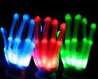 Colorful Lighting LED Flashing Finger Light Up Gloves for Rave Party Halloween