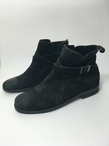 MENS KENNETH COLE REACTION BLACK LEATHER WORK ANKLE BOOTS SHOES UK 10 US 10.5M