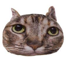 Dekokissen Katze braun Zierkissen Sofakissen Kuschelkissen Katzen Kissen