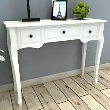 White Console Table Hallway Furniture Entryway Bedroom Dressing Tables 3 Drawers