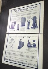 1908 Beer Ad Brewery Equipment Wittemann New York Tanks Pipe Coolers