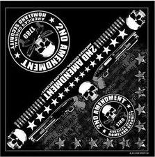"2nd Amendment America's Original Biker Bandana 21""x21"" BIKER Doo Rag BAN-0051"