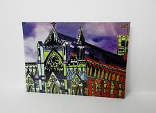 POSTCARD 6 X 4  ST ALBANS  ABBEY AT NIGHT BY ANN MARIE WHITTON