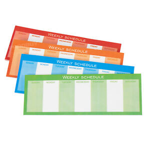 """120 Weekly Schedule Sticky Notes 5.5x2"""" Office Daily Planner Adhesive Memo Pads"""