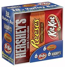 Hershey's Chocolate Variety Pack 18-Count 27.3-Ounce Box Delicious Kosher Candy
