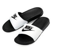 NIKE BENASSI JDI Men's Sandal  343880 100 white black Fast shipping O
